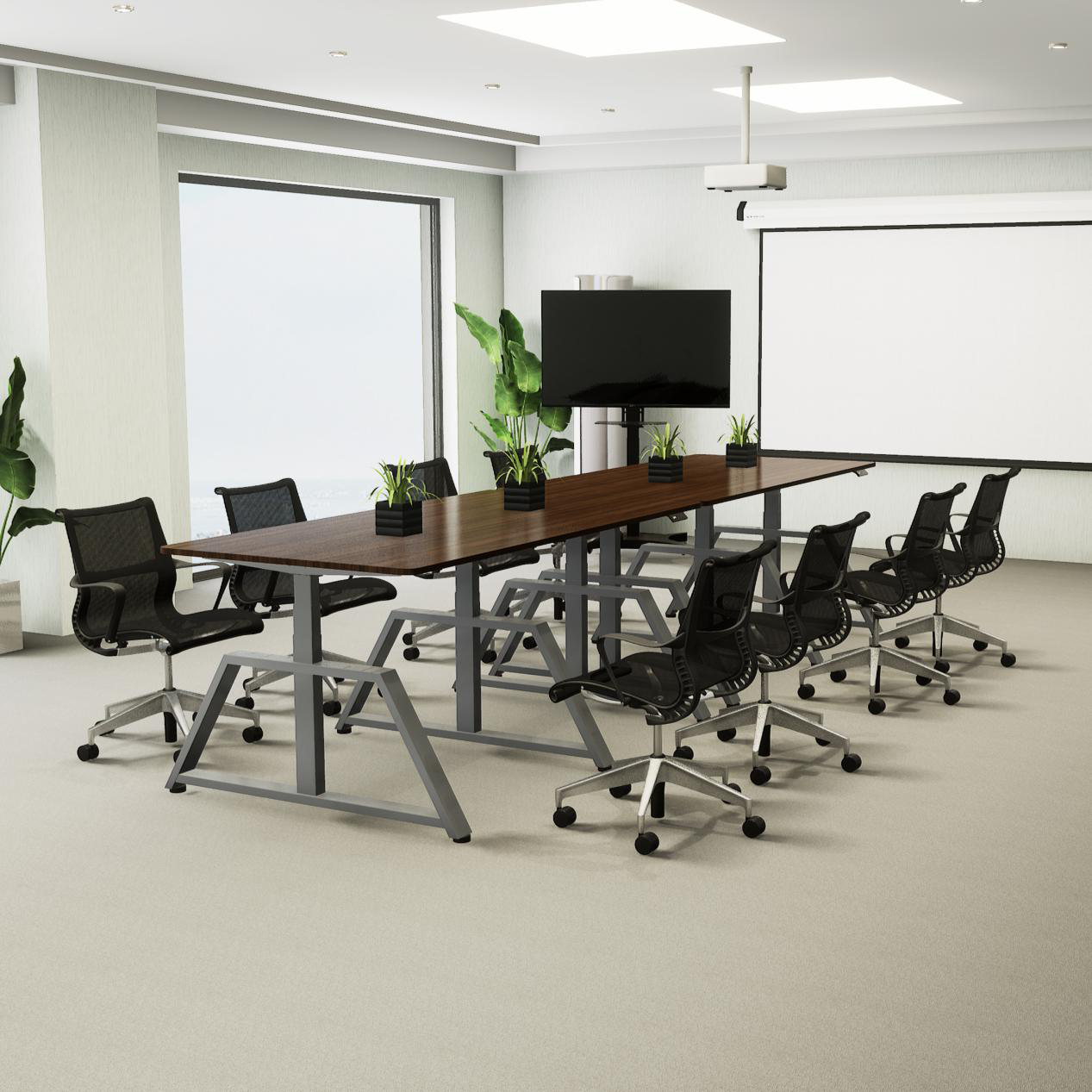 Standing Height Adjustable Conference Tables